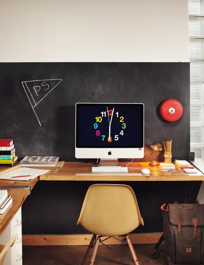 42 ides dco de bureau pour votre loft - Comment Faire Un Bureau Avec Un Plan De Travail