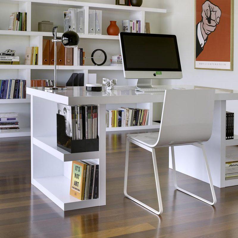 42 idées déco de bureau pour votre loft bureau avec pieds étagères