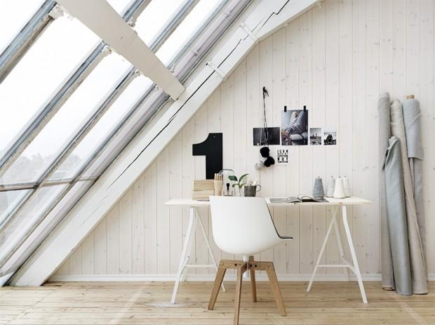 33 id es d co de bureau pour votre loft. Black Bedroom Furniture Sets. Home Design Ideas