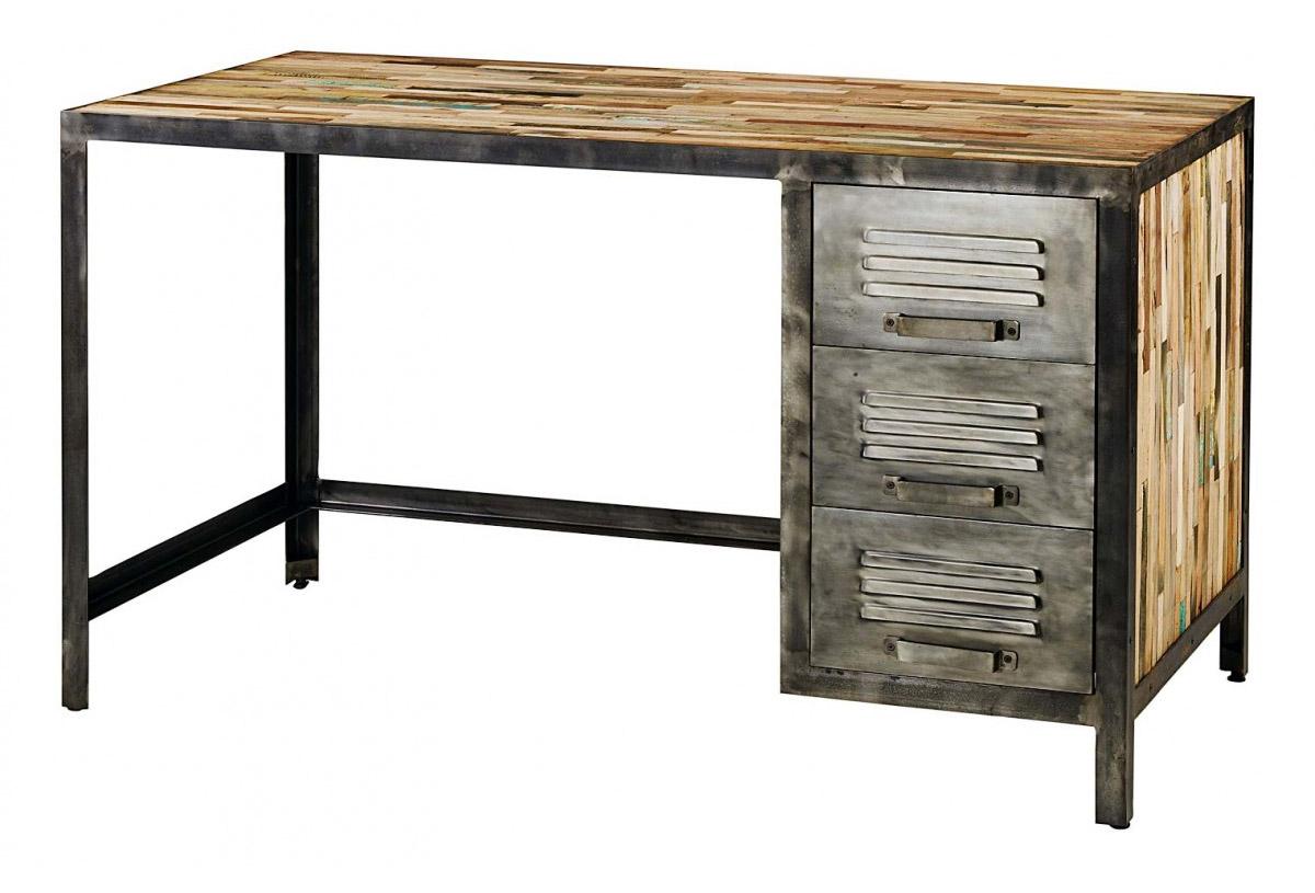 Bureau d co industrielle en bois et m tal - Bureau industriel bois et metal ...