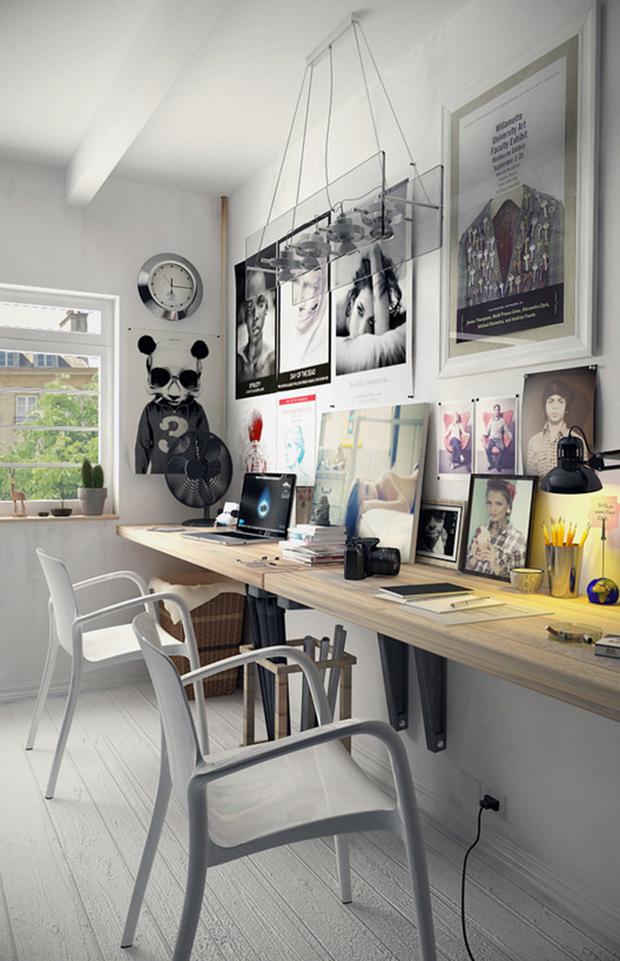 Idee Decoration Bureau #9: Latest Bureau Double With Deco Bureau.