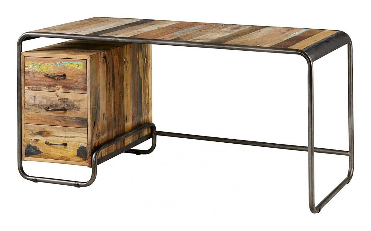 bureau vintage en bois recycl. Black Bedroom Furniture Sets. Home Design Ideas