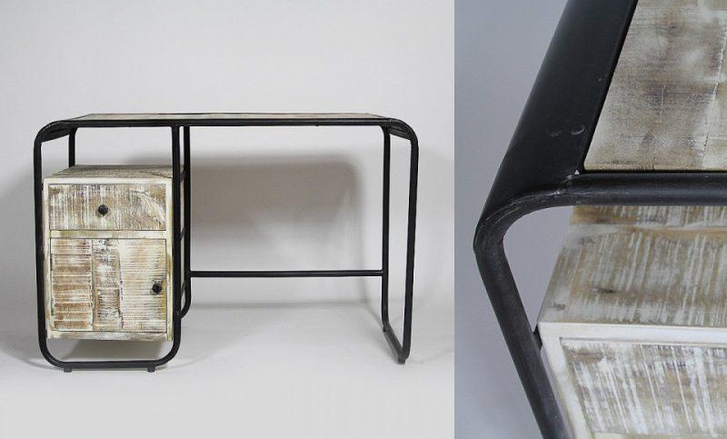 Bureau vintage en-bois et métal