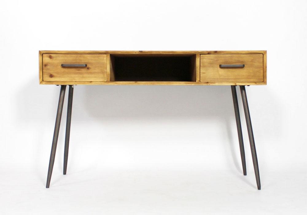 bureau vintage avec pieds compas. Black Bedroom Furniture Sets. Home Design Ideas