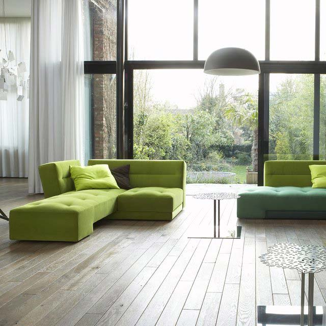 Canapé Patchwork vert anis