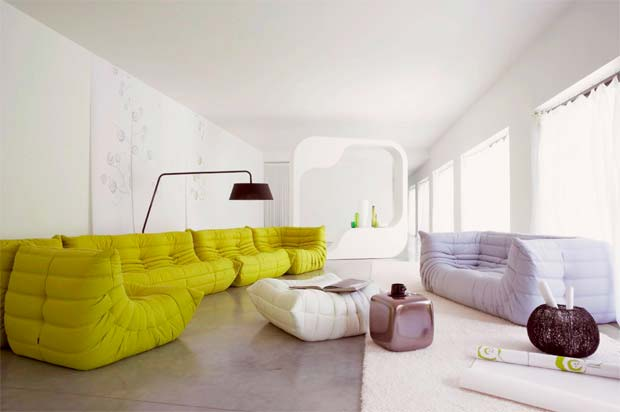 50 id es d co de canap for Salon togo ligne roset