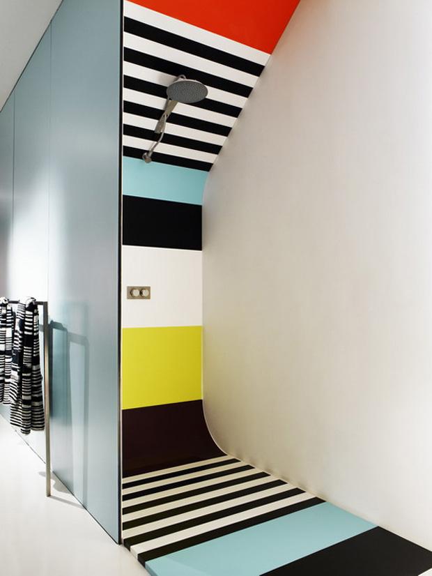 douche multicolore design. Black Bedroom Furniture Sets. Home Design Ideas