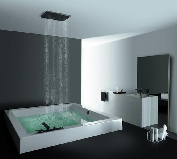 Douche et baignoire en m me temps for Salle de bain douche et baignoire moderne