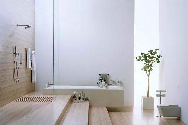 Salle de bain épurée avec douche