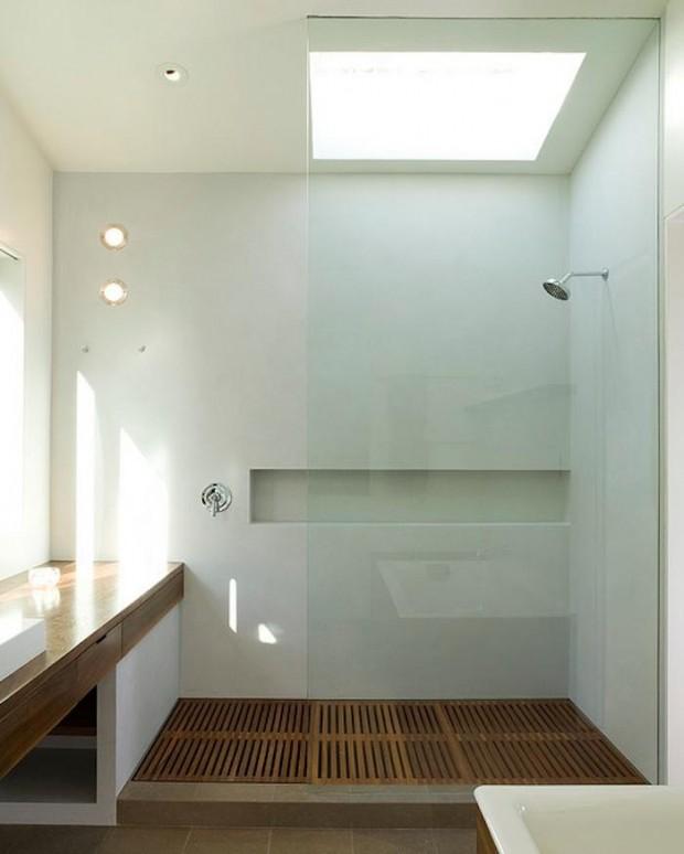 Douche parois vitrées design