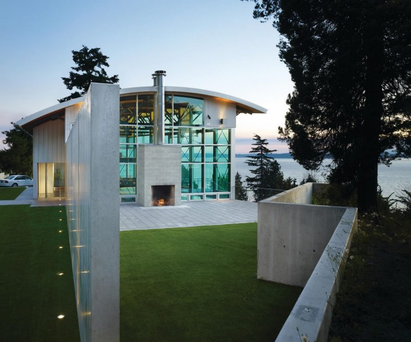 Maison esprit loft à Seattle avec ossature métallique