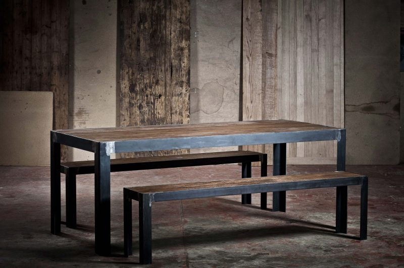 52 id es d co de table - Table pied fer forge plateau bois ...