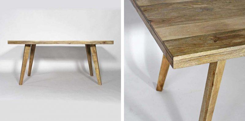 Table bois en clair pour une déco scandinave