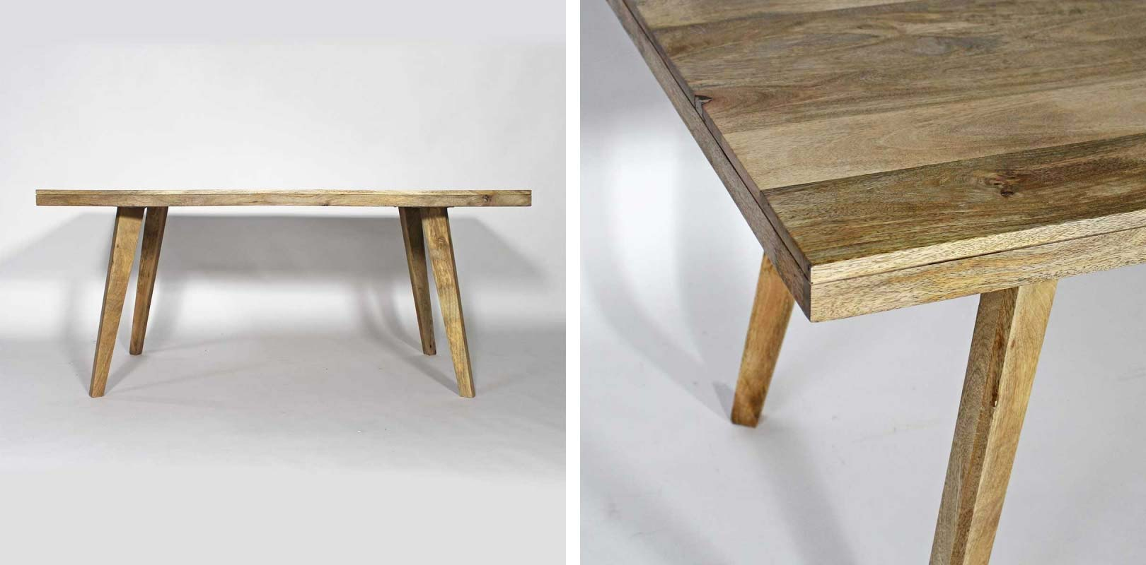 Table bois en clair pour une d co scandinave for Table en bois