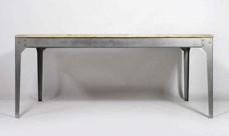 Table déco industrielle avec rallonges