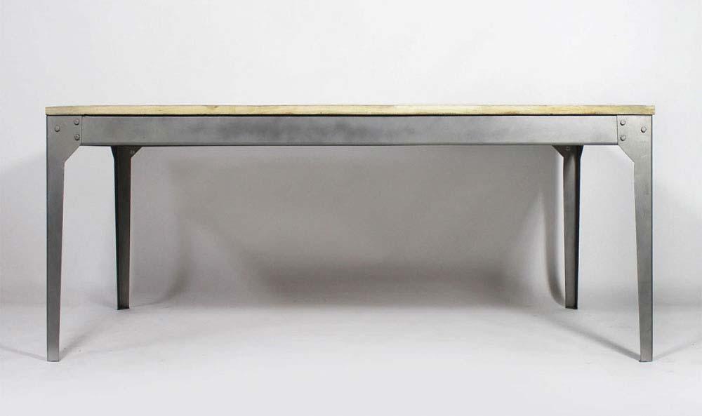table industrielle avec rallonge maison design. Black Bedroom Furniture Sets. Home Design Ideas