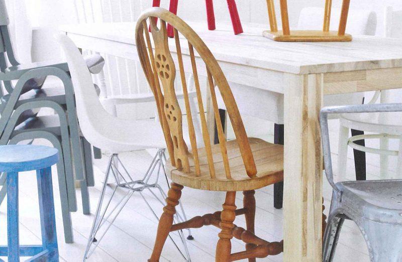 Table en chêne massif brut