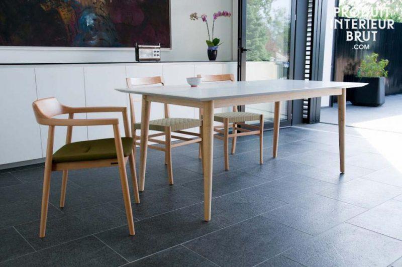 table d co esprit scandinave bois brut et bois blanc. Black Bedroom Furniture Sets. Home Design Ideas