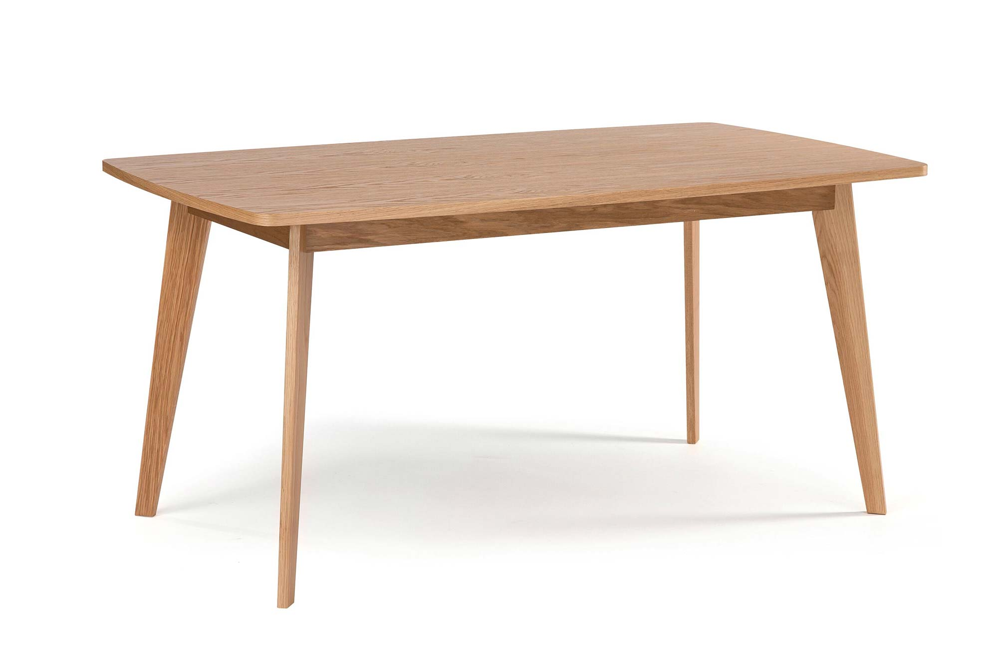 Table design scandinave en ch ne avec rallonges for Table scandinave a rallonge