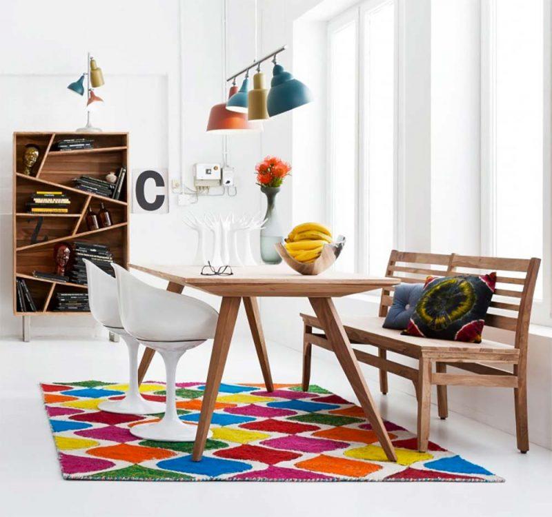 table en bois vintage. Black Bedroom Furniture Sets. Home Design Ideas