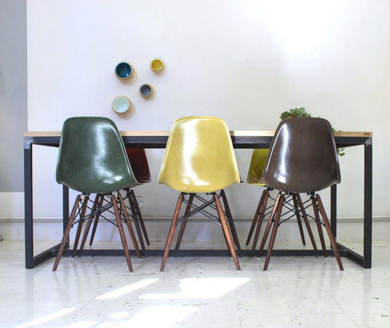 Table industrielle en metal et bois sur-mesure