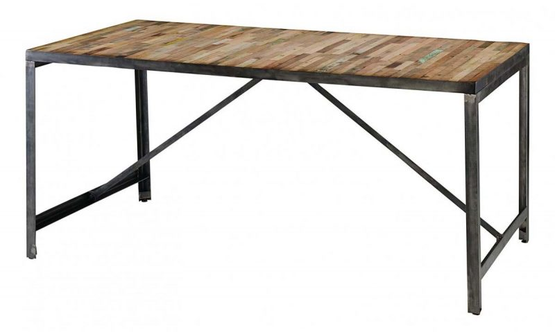 table en m tal et bois recycl par zago. Black Bedroom Furniture Sets. Home Design Ideas