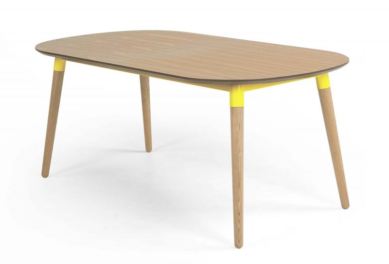 Table rallonges moderne en bois - Table en bois moderne ...