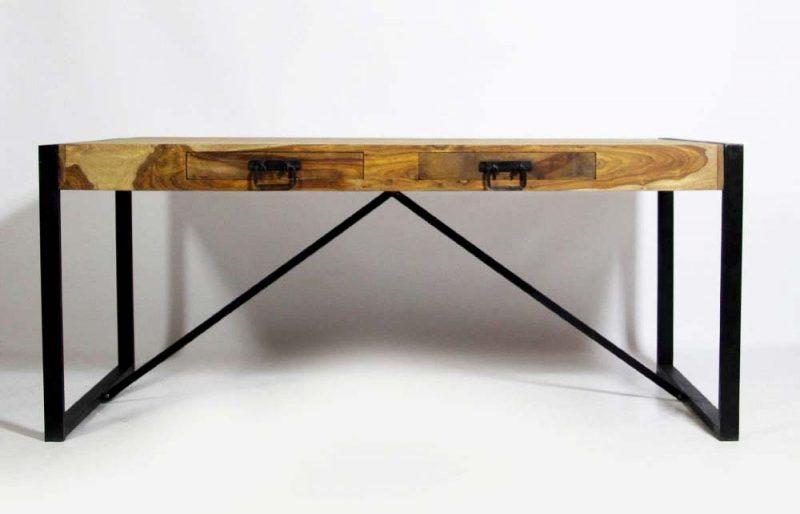 Table avec rallonges et tiroirs