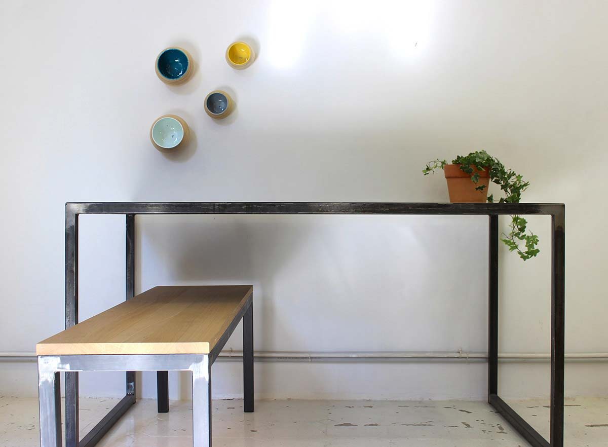 Table sur mesure en metal - Table haute sur mesure ...