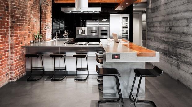 Ilot de cuisine modele cuisine avec ilot central table - Ilot centrale pour cuisine ...