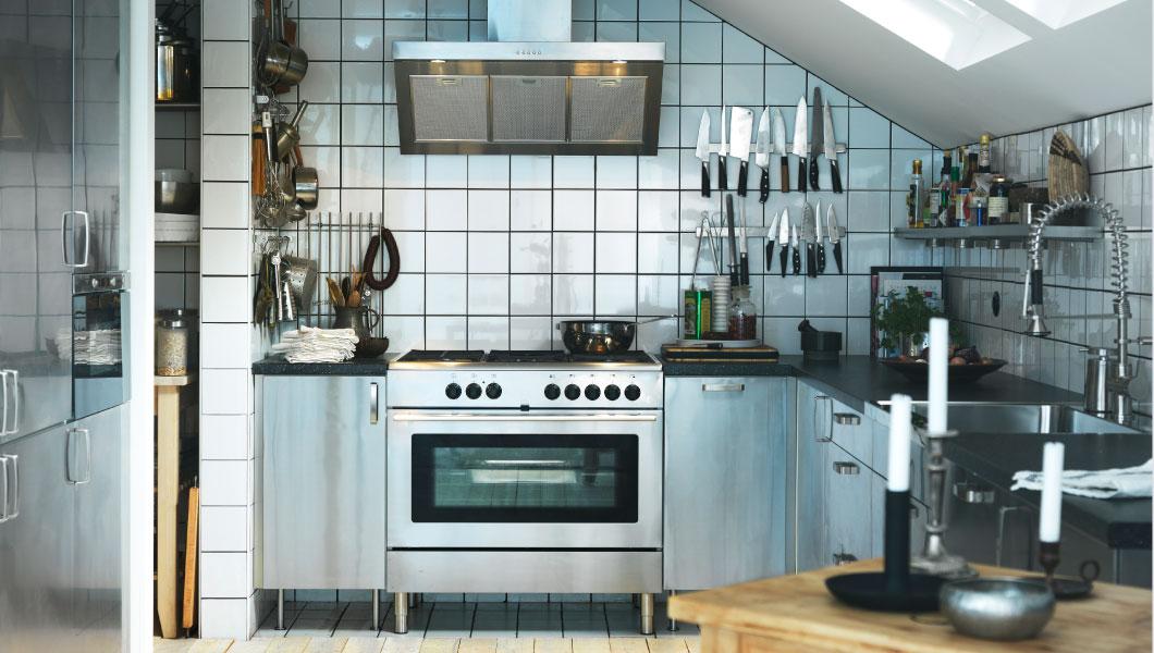 21 id es de cuisine pour votre loft. Black Bedroom Furniture Sets. Home Design Ideas