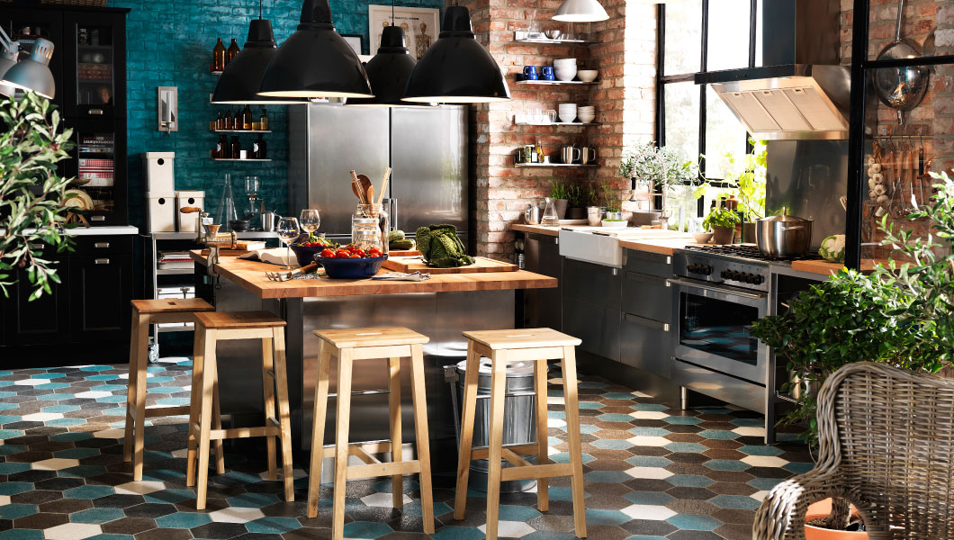 21 id es de cuisine pour votre loft - Modele de bar pour maison ...