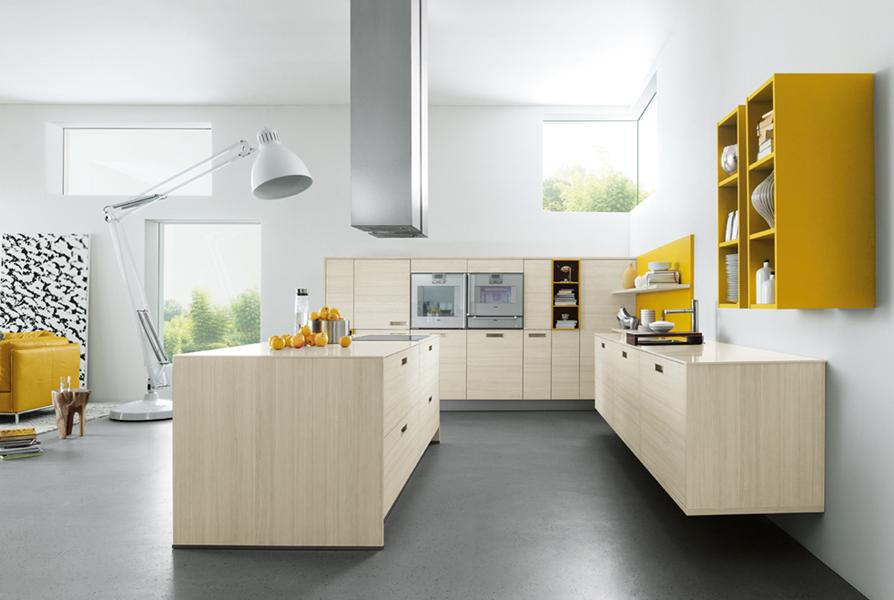 Cuisine chêne blanchi Next 125