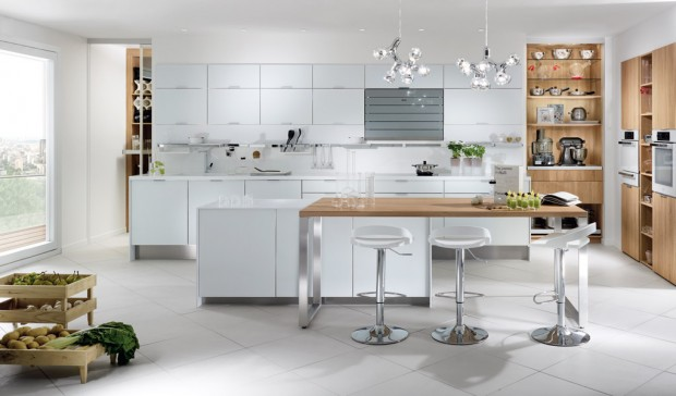 21 id es de cuisine pour votre loft - Ilot central cuisine ikea prix ...
