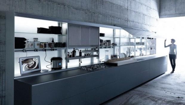 21 id es de cuisine pour votre loft - Idee cuisine en longueur ...