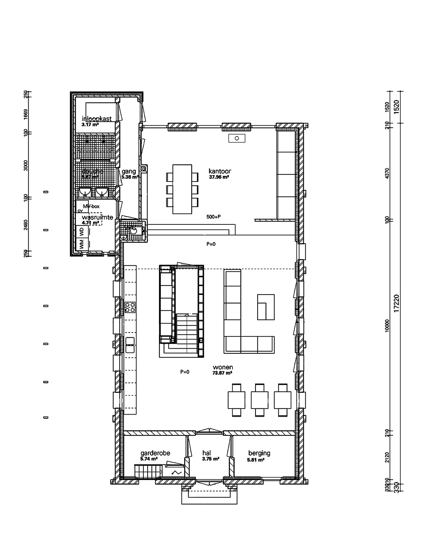 Plan d'un loft dans une église
