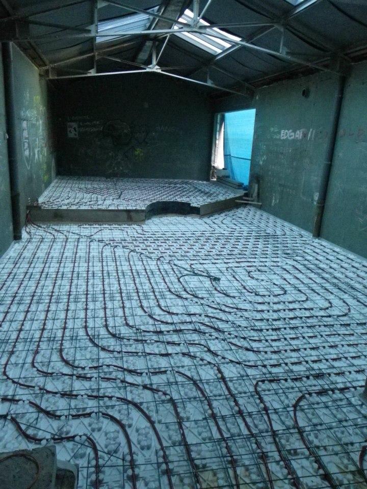 Chauffage au sol du loft