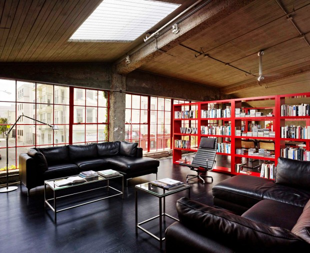 loft dans un ancien entrep t san francisco. Black Bedroom Furniture Sets. Home Design Ideas