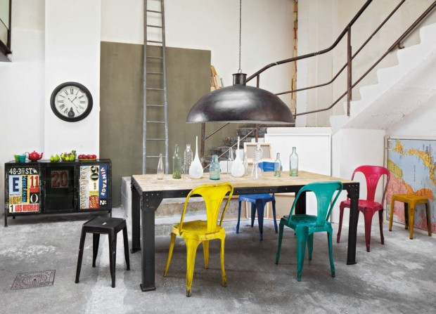 Chaise multipl 39 s - Chaise industrielle maison du monde ...