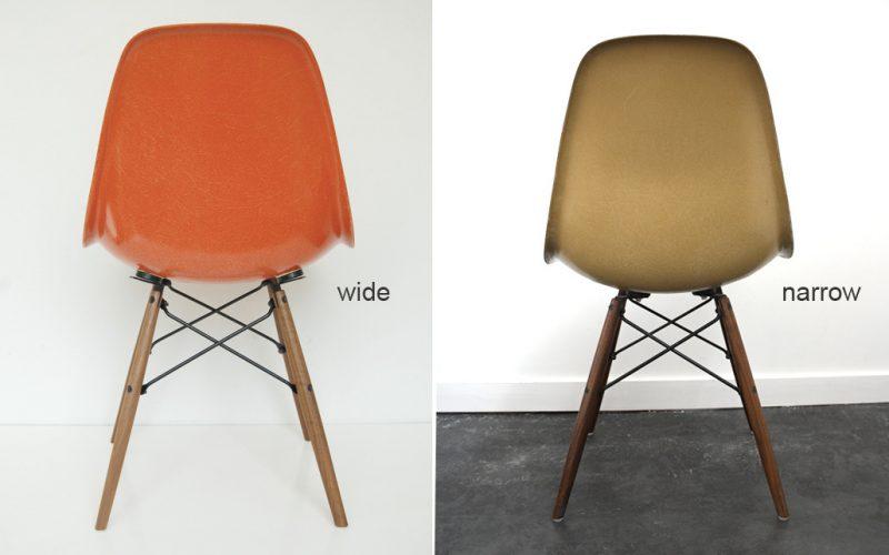 Différence entre une chaise Eames wide et narrow
