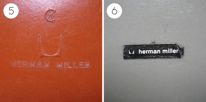 Etiquette de chaise Eames