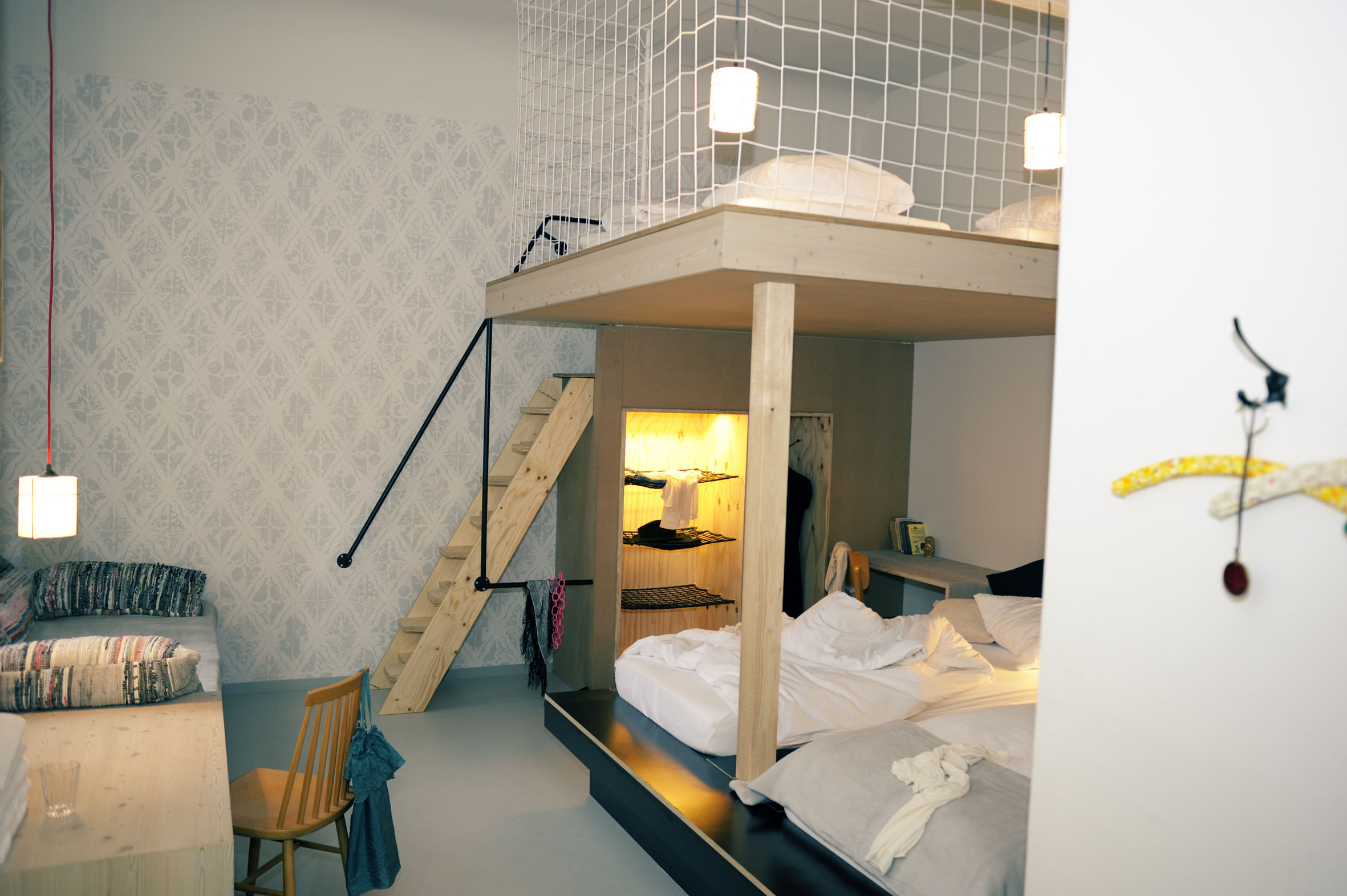 Chambre avec lit en mezzanine