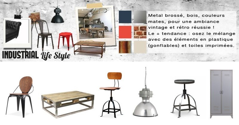 Mobilier style industriel par Drawer