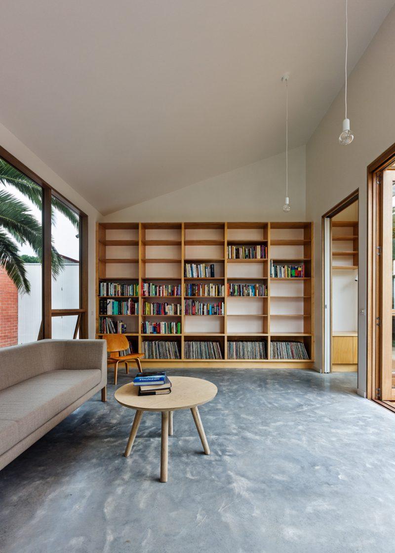 Bibliothèque en bois sur mesure
