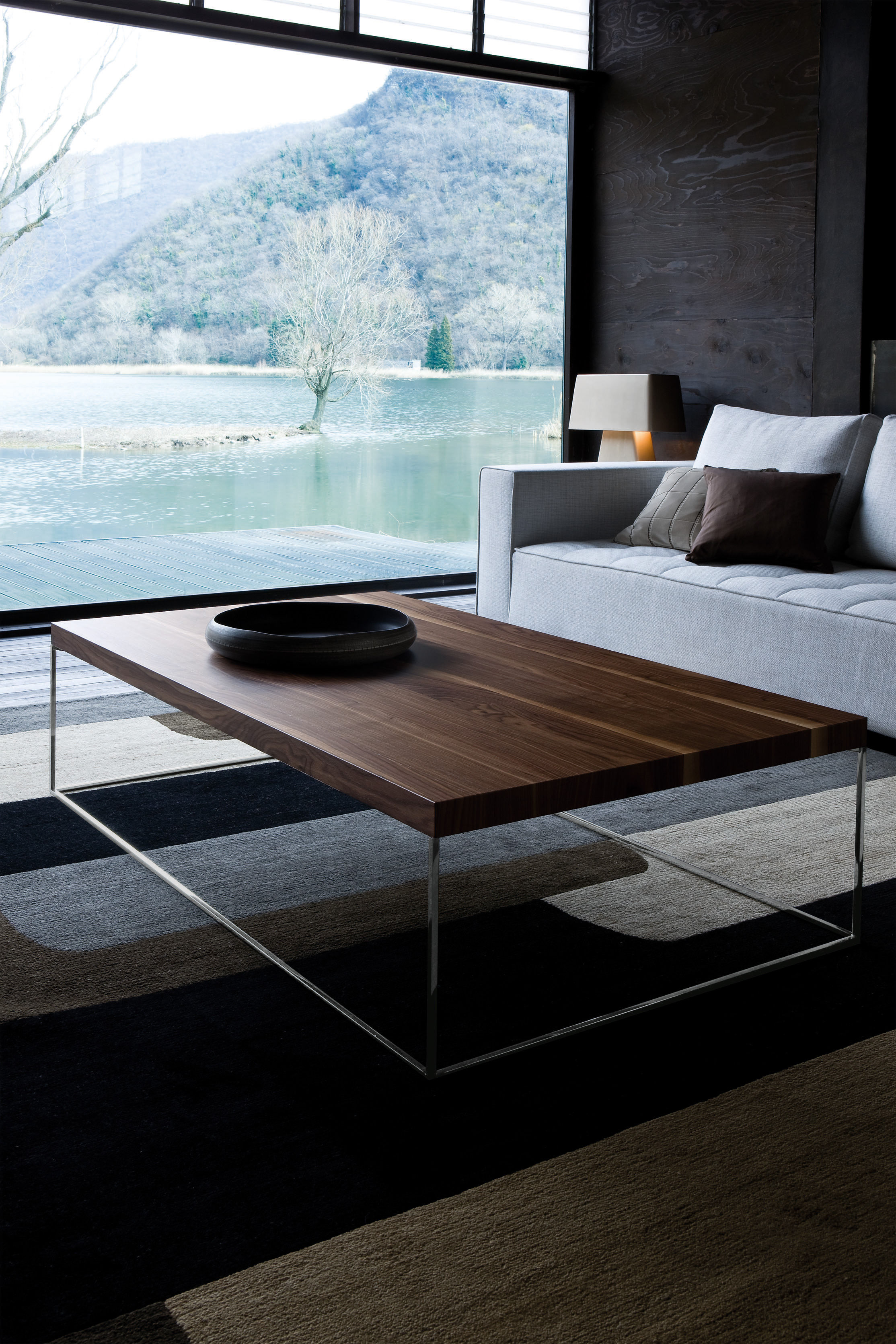 Table basse design en noyer - Deco table salon ...