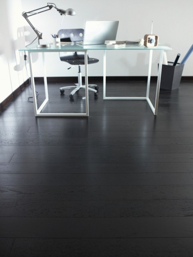 Parquet noir for Parquet pour salon moderne