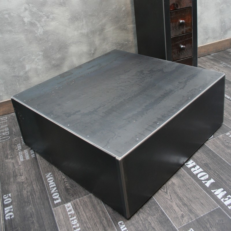 Table basse en acier - Table basse industrielle conforama ...