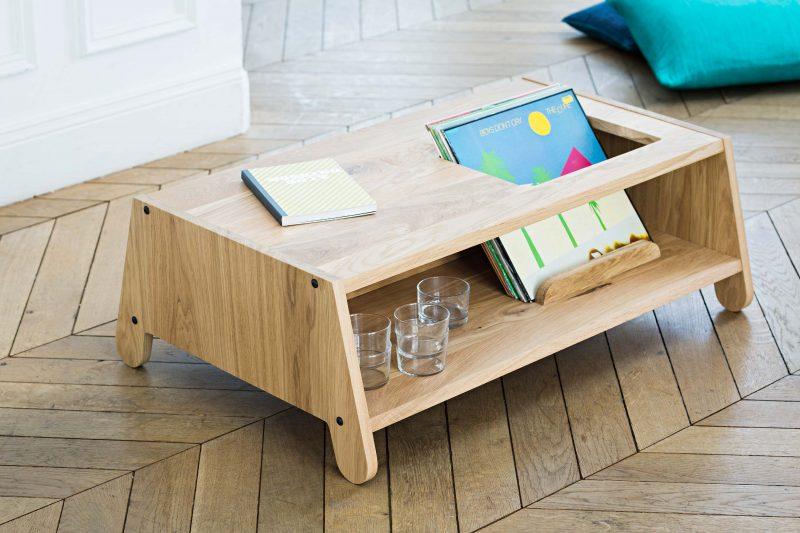 Table basse en bois à configurer