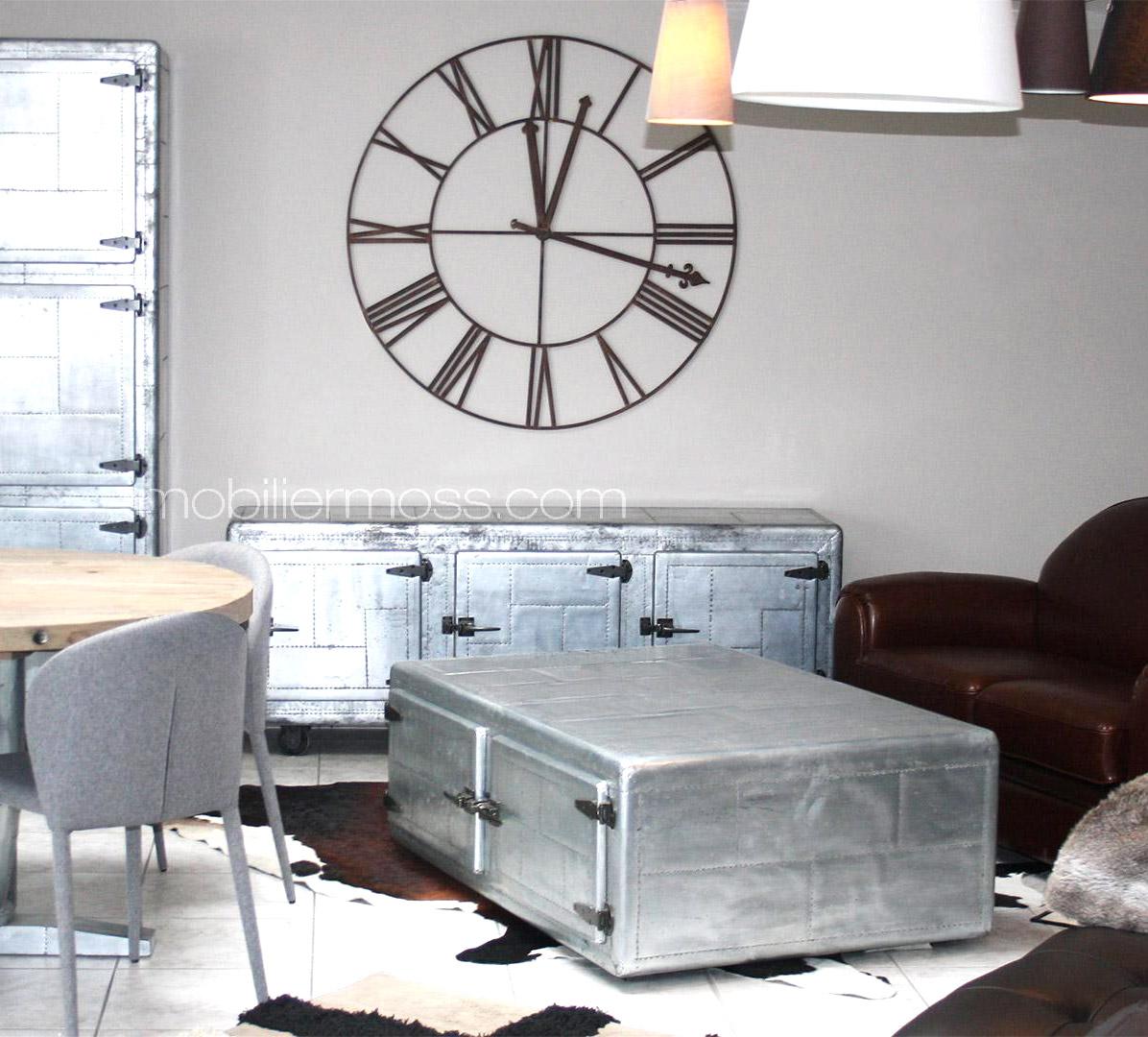 Table basse en zinc - Table basse zinc bois ...