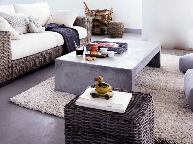 Table basse fly en b ton - Table basse imitation beton ...